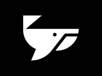 whale minimal logo mark minimal logo fish whale
