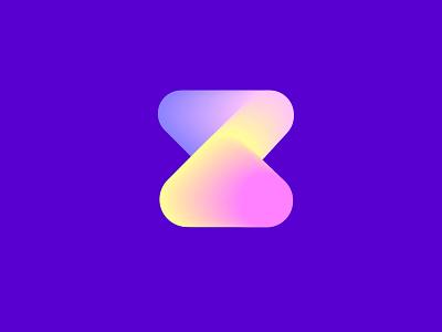 Z mark gradient color minimal logo z