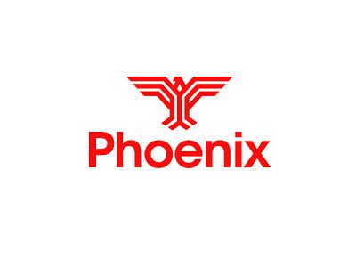 Phoenix fire bird logo mark phoenix