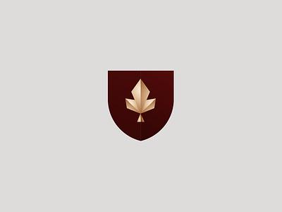 Leaf Gold shield logo leaf gold