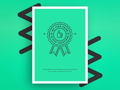 Core Values – Pride company values culture poster illustration vector communication icon teal arrow line art badge tree