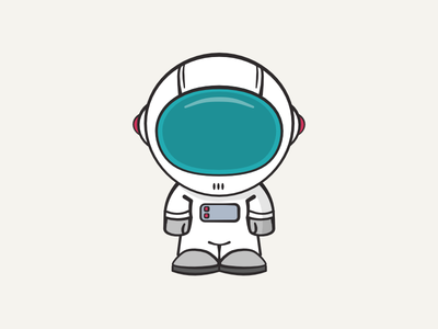 Spaceman illustration explorer nasa pilot astro cosmos space character cosmonaut astronaut spaceman