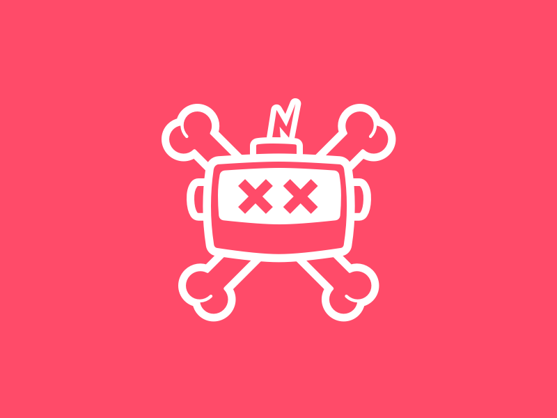 Dead Robot vector symbol robot machine logo linework illustration icon emblem dead branding badge