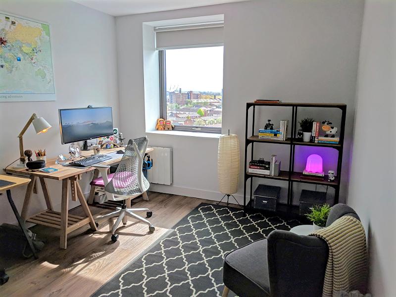 Home office setup interior design decor city macbook studio designer workplace desk remote home-office office workspace