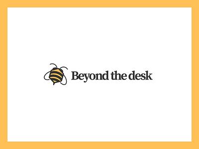 Bumble bee logo logo design identity monogram typogaphy type illustration minimal branding simple clean lockup bee nature insect mark logo icon brand hive fly