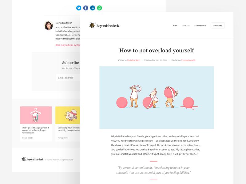 Minimalist blog concept article landing ui simple clean minimalist ui design web design website blog