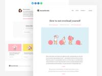 Minimalist blog concept