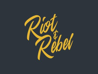 Riot & Rebel Brand logo branding script type mono identity lettering calligraphy word mark typography logotype lockup