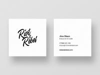 Riotandrebel square business cards lite