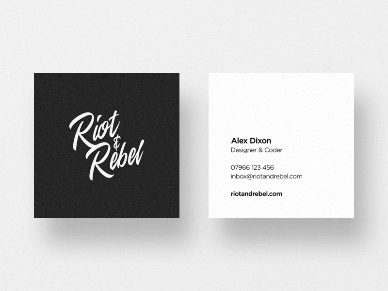 Personal Business Cards card logo minimalist simple clean freelance business stationery contact card business card business cards branding personal