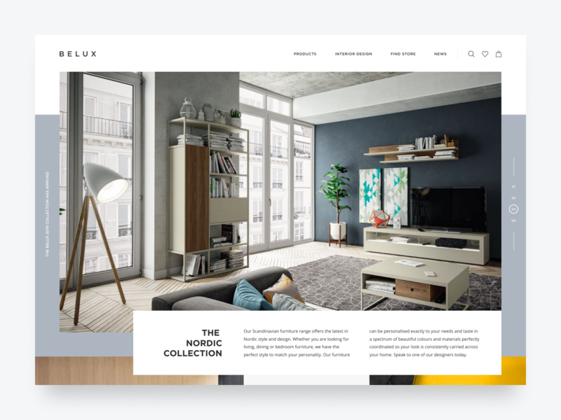 Belux Luxury Furniture Store luxury site typogaphy studio product modern homepage interior design website landing ecommerce shop store furniture simple minimal clean ui ux web design