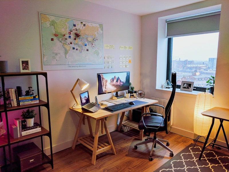 Home Office (2019) setup inspiration macbook pro monitor manchester developer designer office space remote agency studio interior design desk workspace home office office