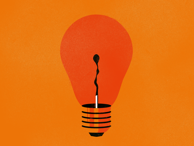 Obsolete Ideas vector design illustrator burn matchbox matches lightbulb idea