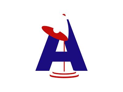 A lamp graphicdesigner design blue red letter a lamp illustrator illustration