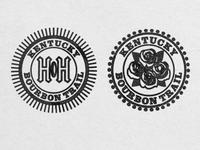 Stamp graphics for the Kentucky Bourbon Trail Passport app