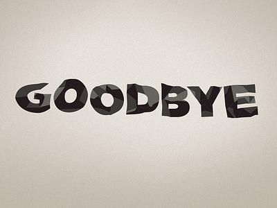 Goodbye type goodbye folded black