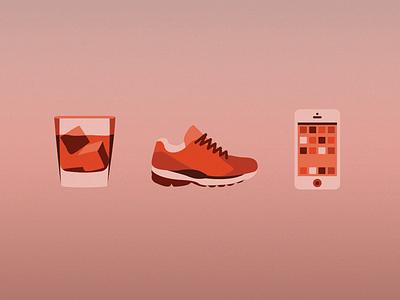 Some Icons icons illustration orange
