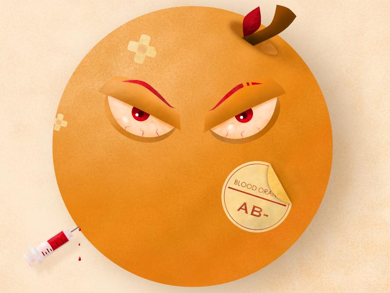Blood Orange blood donation syringe affinity designer texture brushes texture vector design illustration blood orange fruit