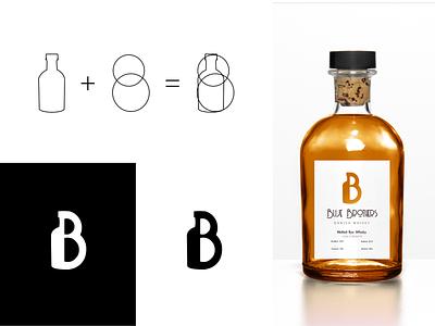 Whiskey Logo Concept identity bottle packaging b danish whiskey typography logo branding affinity designer design vector illustration