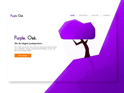 Design Studio Concept design studio cta purple tree texture brushes texture ui typography logo affinity designer design vector illustration