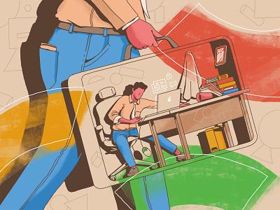 """F*ck! I got fired"". fired job artwork arts character illustration"
