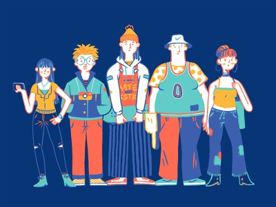 People (Brandon Land character) people colors artwork character design arts character illustration