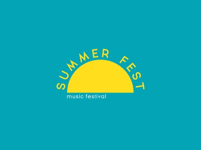 Summer Fest music music festival startup corporateidentity identity branding graphicdesign design logo