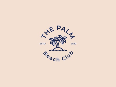 The Palm club beach the palm beach club agency startup corporateidentity identity branding graphicdesign design logo