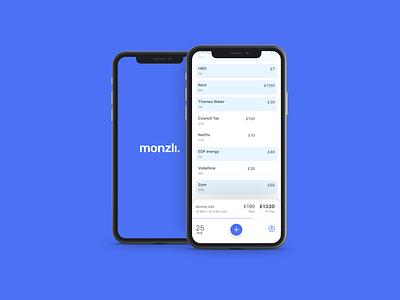 Meet monzli.app branding product design ui