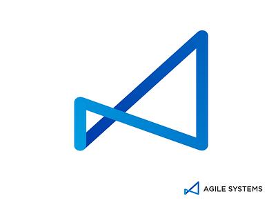 Agile Systems - Logo Design systems network agile icon business tech branding brand logo