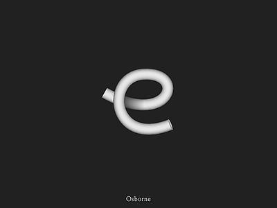 Letter E logo mark 3d lettering logodesign black and white brand identity minimal icon brand branding logotype logo