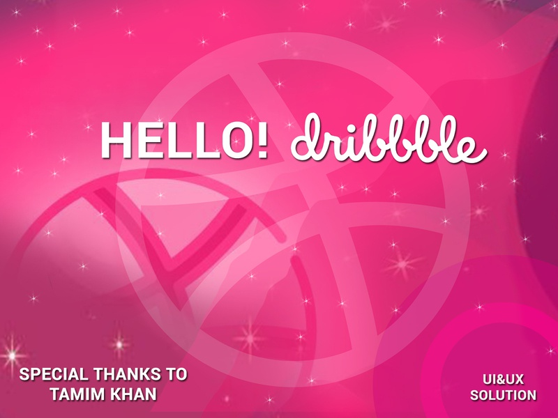 Hello Dribbble! first dribbble shot first design ux vector design ui hello hello dribble