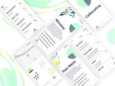 Concept Design IBM Hypertaste cards ibm original cool hardware scientific ios app clean geeky geek new science concept ux design ui artwork