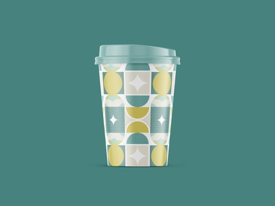 Coffee Cup Pastel Pattern