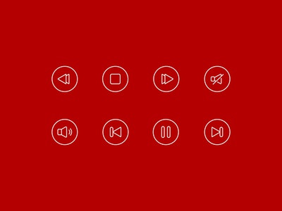 Web App Icons - Music Player