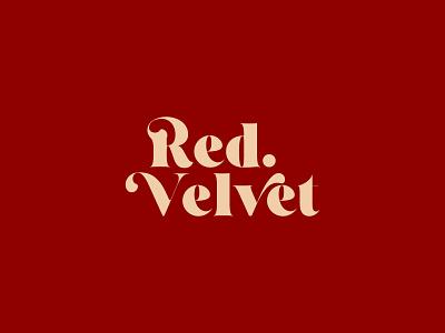 Red Velvet typeface lettering company ux ui web typography logo branding design minimal creative