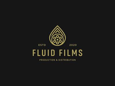Fluid Films movies cinema distribution production company films identity flat ui web typography logo branding design minimal creative