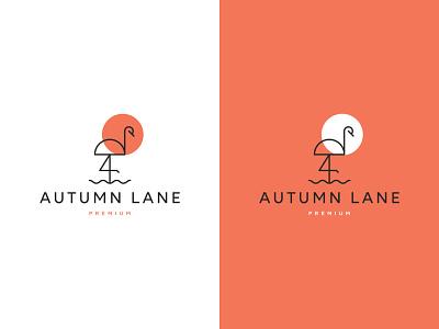 Autumn Lane wellness beauty flamingo icon flat identity web ui typography logo branding design minimal creative