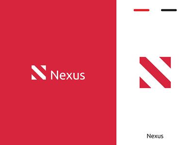 Nexus mark lettering consultancy finance flat ui icon web typography logo branding design minimal creative