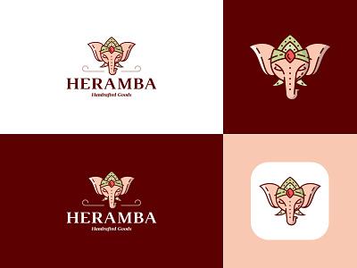 Heramba Logo icon flat ui web typography logo branding design minimal creative
