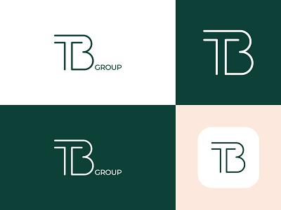 TB Group Logo identity icon flat web typography ui logo branding design minimal creative