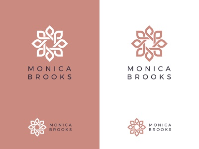 Monica Brooks Logo luxury brand pastel web ui icon flat typography logo branding design minimal creative