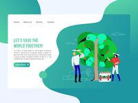 Ecology NGO Landing Page