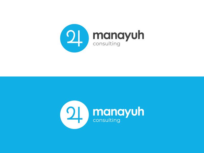 Manayuh Consultants Logo consultancy web icon branding ux ui illustrator identity business adobe design logo vector minimal creative