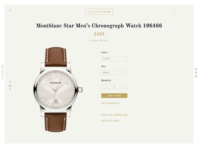 Luxury Watch Product Page