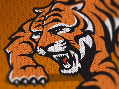 Pearson Bengals tiger bengals sports sports logos logo illustration