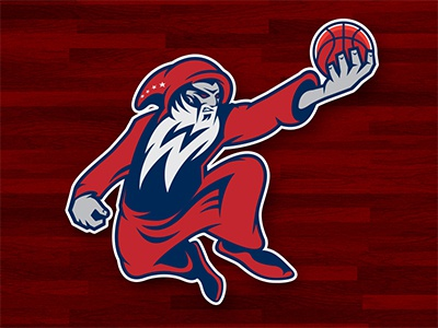 Washington Wizards nba basketball logo concept wizard illustration sports sports logo