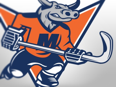 Missouri Mavericks echl hockey mavericks missouri bull logo illustration