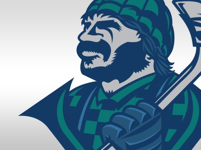 Heeeeere's Johnny nhl hockey logo team canucks vancouver illustration sports logos sports design