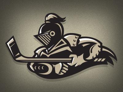 LVNV las vegas black knights nhl concept logo illustration hockey knight